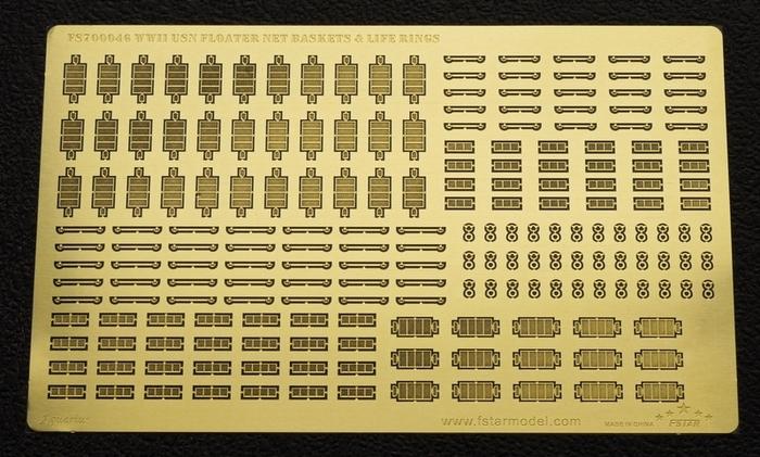 FS700046 1/700 二战美国海军 救生篮筐和救生圈